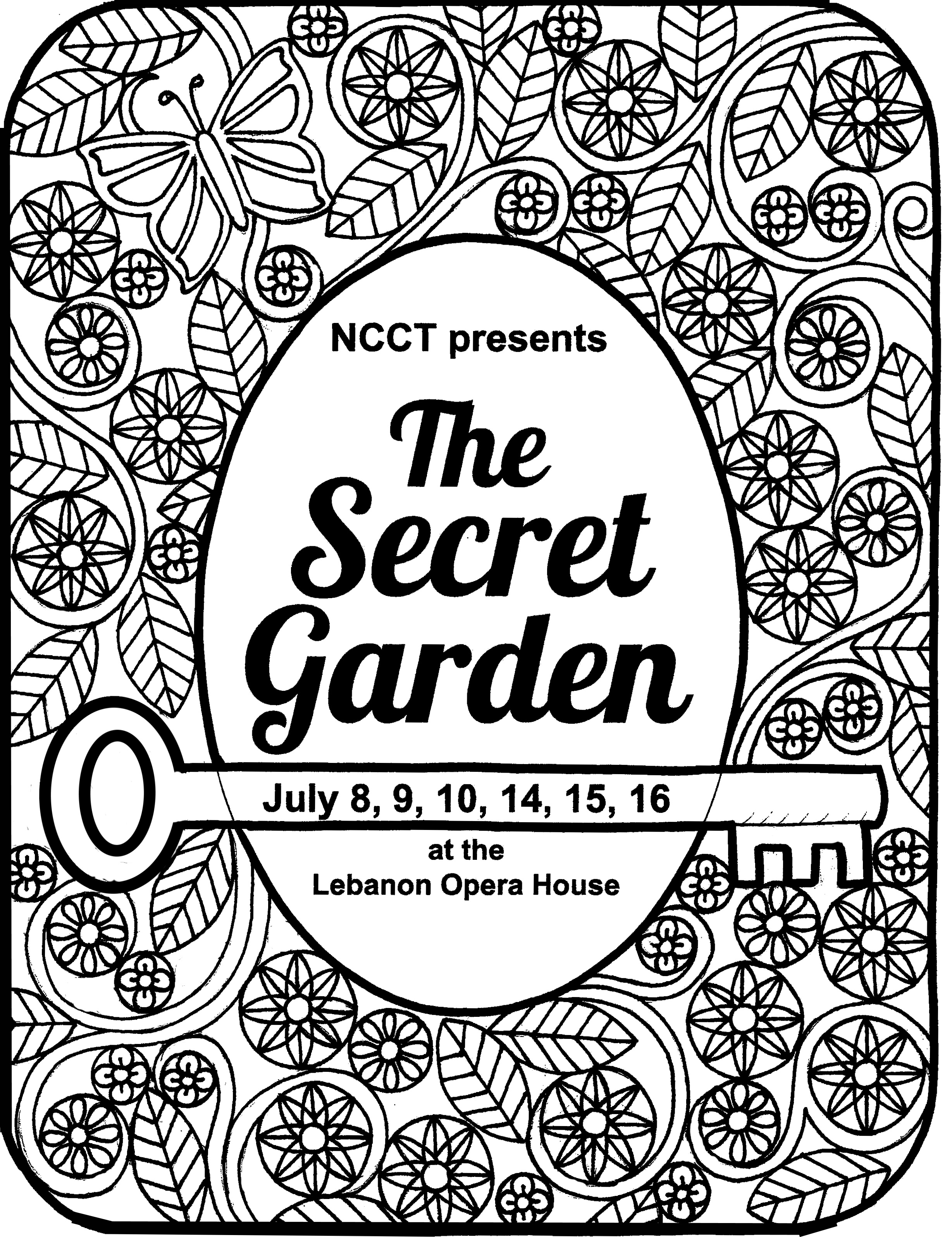 get your own secret garden coloring page